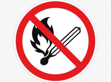 open-vuur-en-roken-verboden-sticker-verbodssticker-vlam