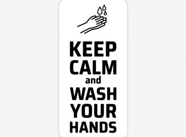 keep calm and wash your hands sticker handen wassen hygiene