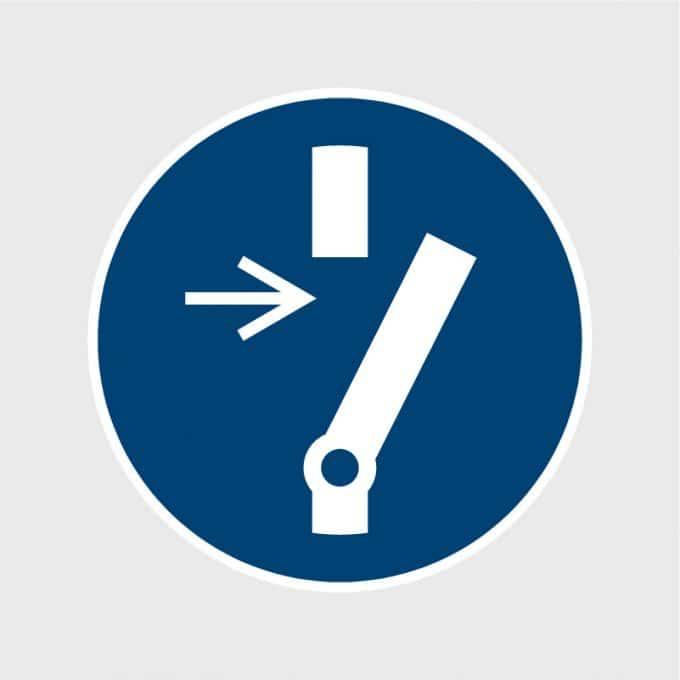 Sticker Bij onderhoud of reparatie vrijhouden ISO 7010 M021 gebodsstickers veiligheidsstickersArtboard 1-80