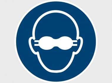 Sticker dragen opaak bril verplichtISO 7010 M007Artboard 1-80